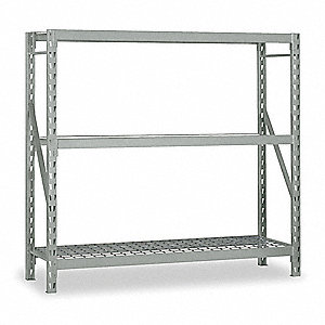 "Starter Bulk Storage Rack with Galvanized Wire Decking and 3 Shelves, 60""W x 36""D x 72""H"