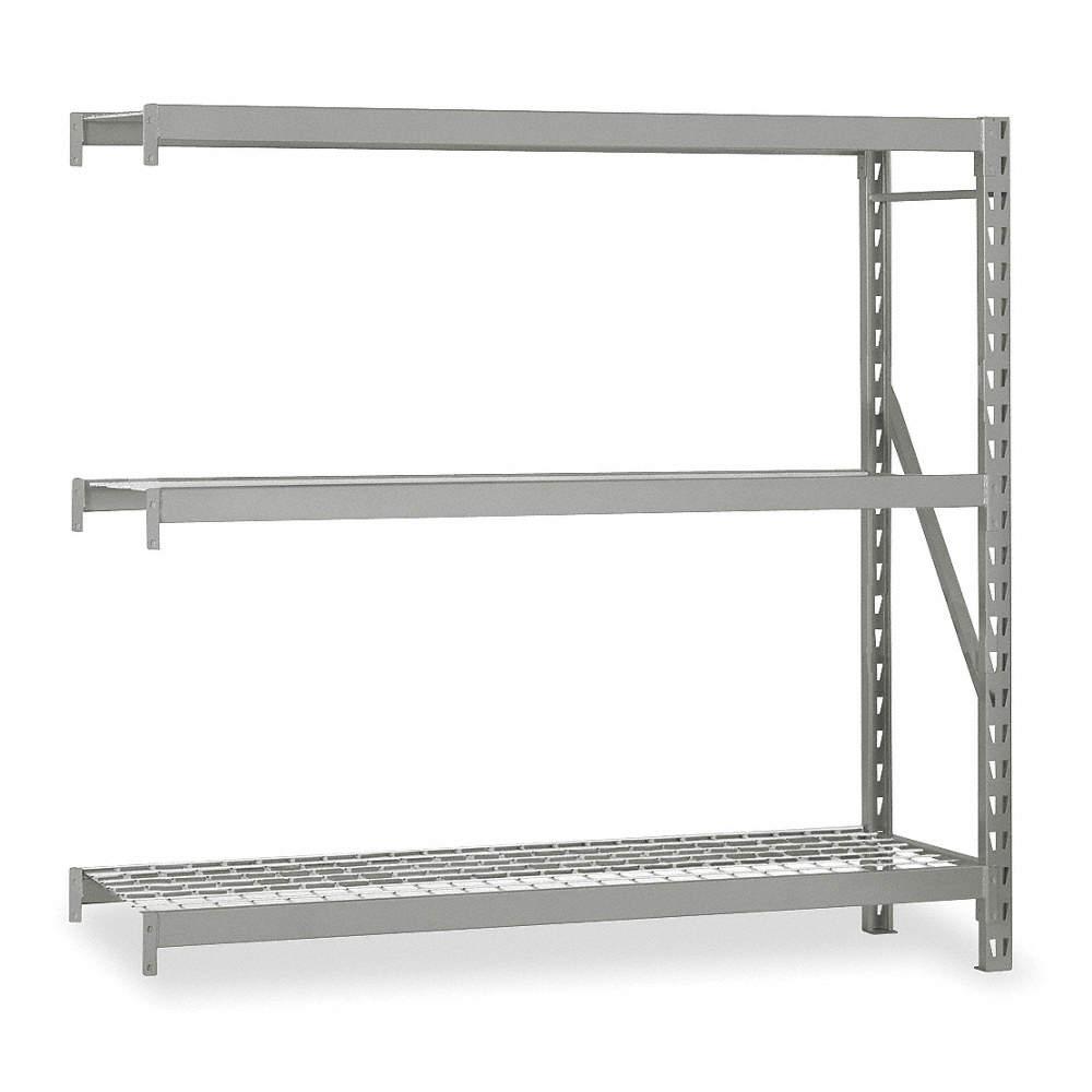 EDSAL Add-On Bulk Storage Rack with Galvanized Wire Decking and 3 ...