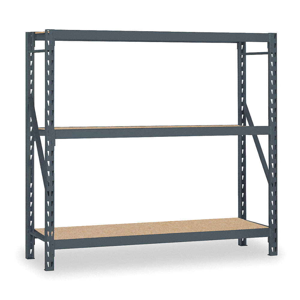 Edsal Starter Bulk Storage Rack With Particle Board Decking And 3