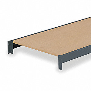 "72"" x 18"" Additional Shelf Level, Gray&#x3b; For Use With Bulk Storage Rack"