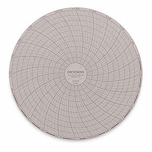 CIRCULAR CHART,6 IN,0 TO 250,24 HR,