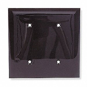 Blank Strap Mount Wall Plate, Brown, Number of Gangs: 2, Weather Resistant: No