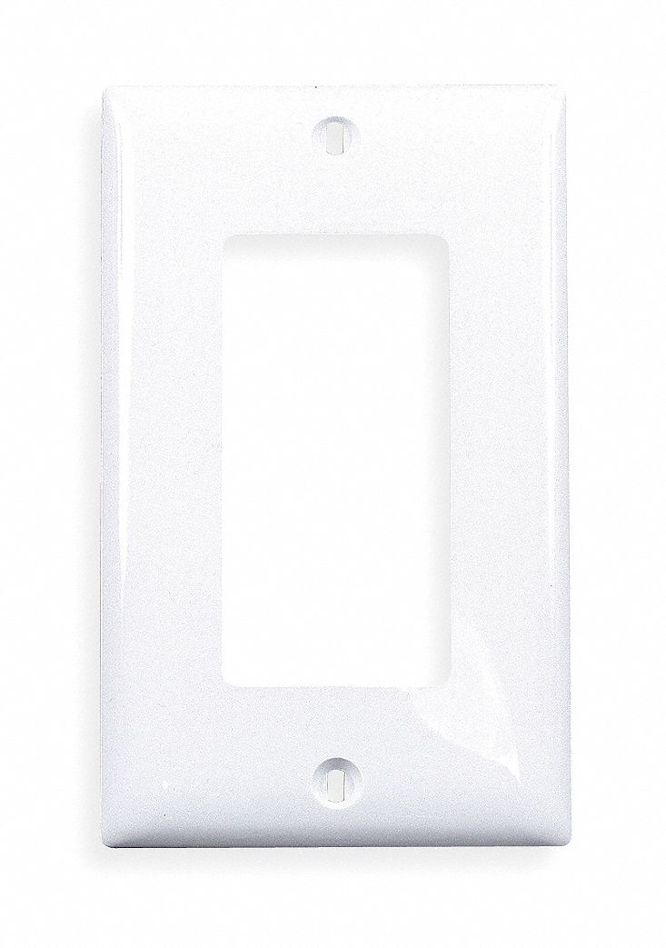 Hubbell Wiring Device Kellems Rocker Wall Plate White Number Of Gangs 1 Weather Resistant No 1lxy3 Np26w Grainger