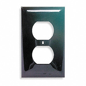 Duplex Receptacle Wall Plate,  Brown,  Number of Gangs 1,  Weather Resistant No