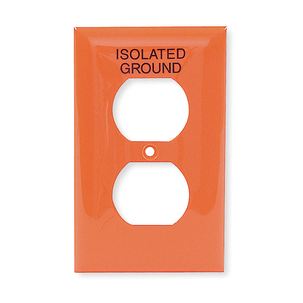 Hubbell Wiring Device Kellems Duplex Receptacle Wall Plate Orange