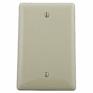 Blank Box Mount Wall Plate, Ivory, Number of Gangs: 1, Weather Resistant: No