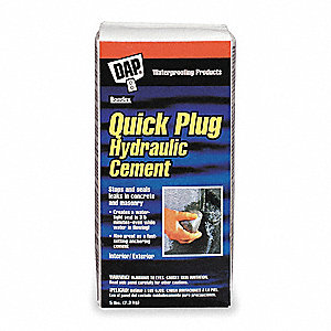 Gray Quick Plug Hydraulic Cement, 5 lb. Size, Coverage: Not Specified