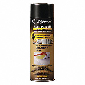 16 oz. Multipurpose Spray Adhesive with Temp. Range (F) of 0° to 150°