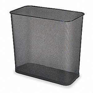 "Concept Collection™ 7-1/2 gal. Rectangular Open Top Decorative Wastebasket, 16""H, Black"