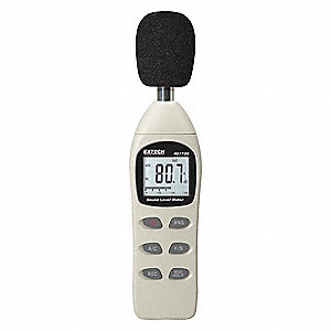 extech digital sound level meter 40 to 130 db 1lyp4 407730 grainger rh grainger com sound meter software sound meter app review