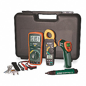 Electrical Test Kit, Test Instrument Included: Clamp Meter, Digital Multimeter, Voltage Detector