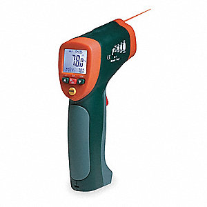 Infrared Thermometer, -58° to 1922°F Temp. Range (F), Includes: Battery, Transmitter and Receiver, T