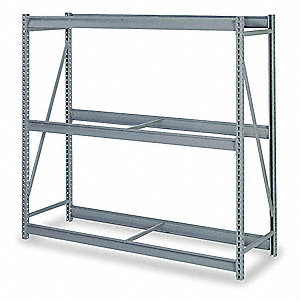 "Starter Bulk Storage Rack with None Decking and 3 Shelves, 48""W x 48""D x 72""H"