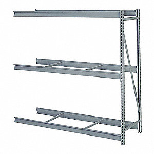 "Add-On Bulk Storage Rack with None Decking and 3 Shelves, 96""W x 24""D x 84""H"