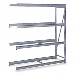 "Add-On Bulk Storage Rack with None Decking and 4 Shelves, 48""W x 48""D x 96""H"