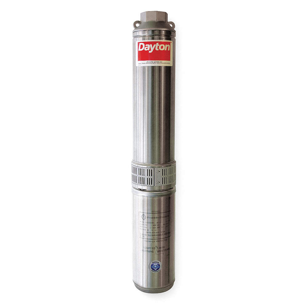 1 HP Stainless Steel Deep Well Submersible Pump, 10 GPM