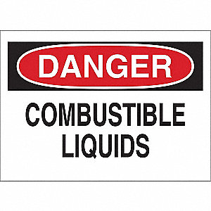 "Chemical, Gas or Hazardous Materials, Danger, Polyester, 10"" x 14"", Adhesive Surface"