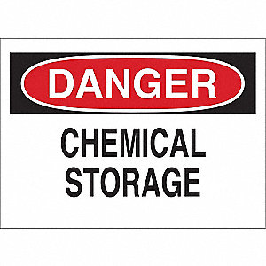 Danger Sign,10 x 14In,R and BK/WHT,ENG