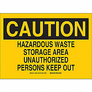 Caution Sign,10 x 14In,BK/YEL,AL,ENG