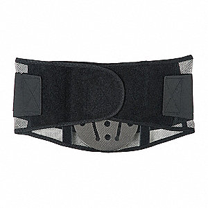"Mesh Back Support with Lumbar Pad, 9-1/2"" Width, XL, Black"