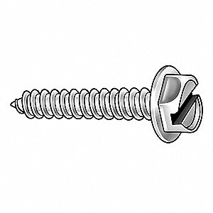 "1-1/2"" Hardened Steel Self-Piercing Screw with Hex Washer Head Type and Zinc-Plated Finish, 149 PK"