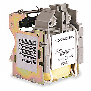 H, J, L Frame Type Shunt Trip, 24VAC For Use With HD,HG,JD,JG Circuit Breakers