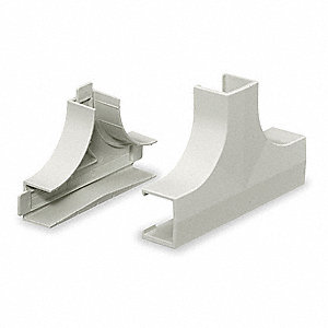 PVC Tee Base and Cover For Use With Lan-Trak® Raceway, White