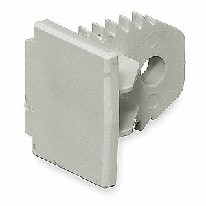 PVC End Cap For Use With Premise-Trak® Raceway, White