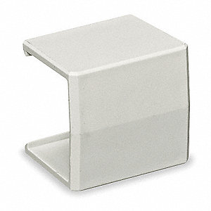 PVC Splice Cover For Use With Premise-Trak® Raceway, White