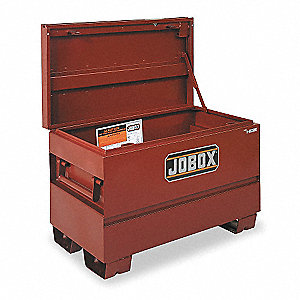 "23-3/4"" x 20"" x 36"" Jobsite Box, 8.3 cu. ft., Brown"