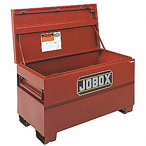 "Brown Jobsite Chest, Width: 48"", Depth: 30"", Height: 33-3/8"", Storage Capacity: 24.3 cu. ft."