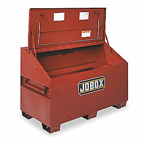 "39-1/2"" x 30"" x 60"" Slope Lid Jobsite Box, 32.7 cu. ft., Brown"