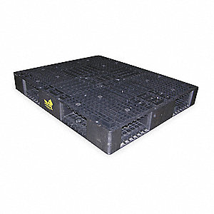 "4-Way Stackable High Density Polyethylene Pallet, 48""L x 40""W x 6""H"