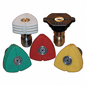 Quick Connect Spray Nozzle, Nozzle Size: 4, Max Pressure: 5000 psi, 5 PK