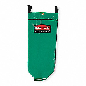 Recycling Cart Bag,Green,Vinyl