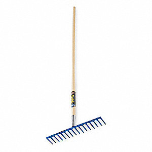 "Road Rake, Steel Tine Material, Length of Tines 3"", Overall Width of Tines 16-5/8"""