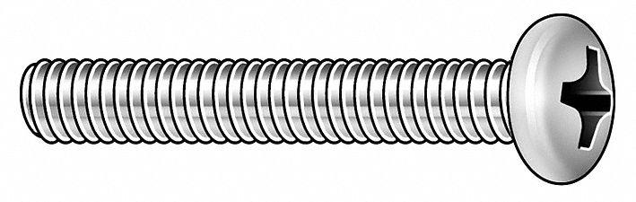 "Fabory U24670.019.0101 #10-32 X 1/"" Flat Head Phillips Machine Screw 100 Pk."