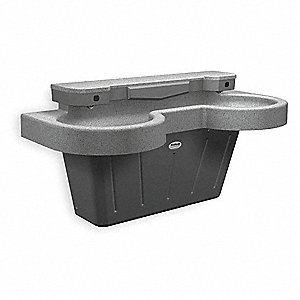 "38-1/2""H 2-Person Lavatory System, Infrared Sensor Operation Type"