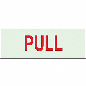 "Directional Sign,2-1/2"" x 7"",Plastic"