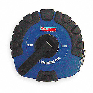 50 ft. Steel SAE Long Tape Measure, Black/Blue