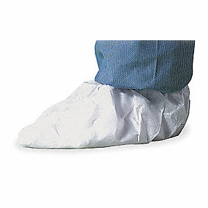 "Cleanroom Shoe Covers, Slip Resistant: Yes, Waterproof: No, 5"" Height, Size: M"
