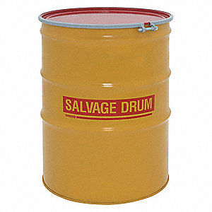 110 gal. Yellow Steel Open Head Transport Drum