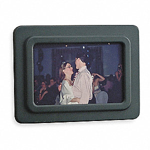 Photo Frame,Color Gray,Holds 4 x 6 In