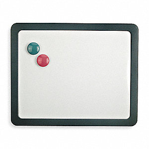 "Gray Magnetic Dry Erase Board, Plastic, 12-7/8"" Height, 15-7/8"" Width, 1"" Depth"