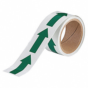 "Glow-in-the-Dark Marking Tape, Arrow, Roll, 2"" x 15 ft., 1 EA"
