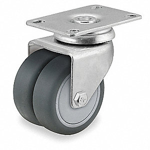 Swivel Plate Caster,TPR,3 in.,220 lb.