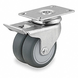 "3"" Plate Caster, 220 lb. Load Rating"