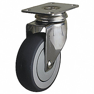 "4"" Light-Duty Swivel Plate Caster, 240 lb. Load Rating"