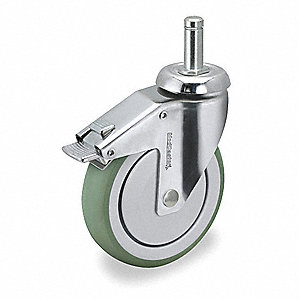 Swivel Stem Cstr w/Totl Lock,4 in,190 lb