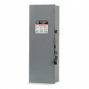 Safety Switch, 1 NEMA Enclosure Type, 30 Amps AC, 30 HP @ 600VAC HP